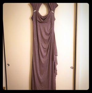 R & M Richards Glitter Evening Gown